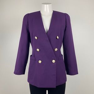 Vintage Purple Double Breasted Blazer